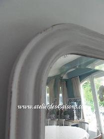 Miroir_vintage_patiné_gris_perle_Atelie