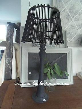 Lampe gris ardoise blanc poudré Atelier