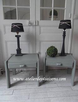 Chevets vintages vert de gris  Atelier d