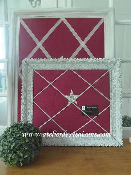 Pèle-mêle en lin rose Atelier des 4 sais