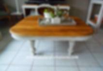 Table basse en noyer gris perle Atelier
