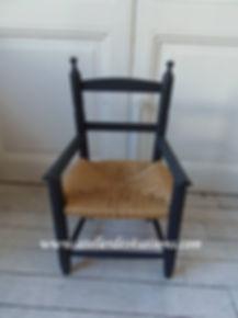 Chaise enfant noir charbon Atelier des 4