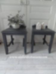 Chevets vintages  gris ardoise Atelier d