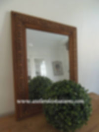 Miroir en bois brut  Atelier des 4 saiso