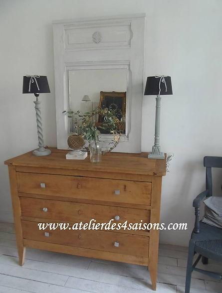 Commode vintage en chêne massif Atelier