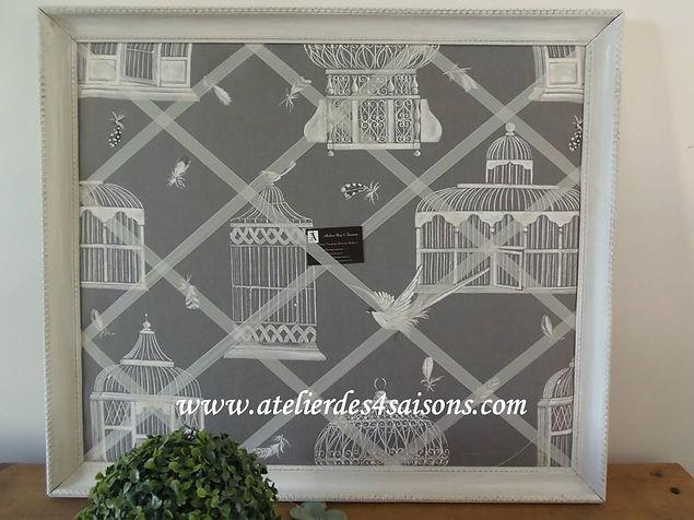 Cadre Pèle-mêle  imprimé cages à oiseaux