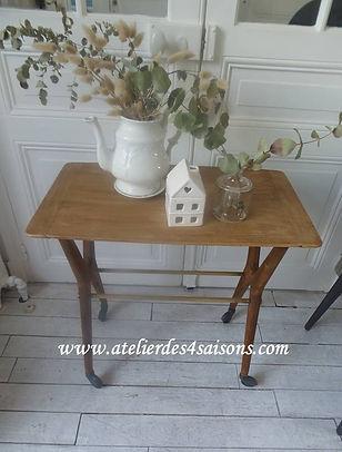 Desserte vintage bois Atelier des 4 sais