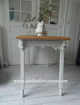 Bureau , table ancienne patiné gris perl