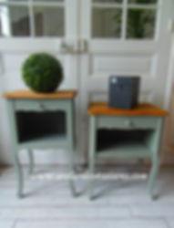Tables_de_chevet_Vintage_patinée__vert_d