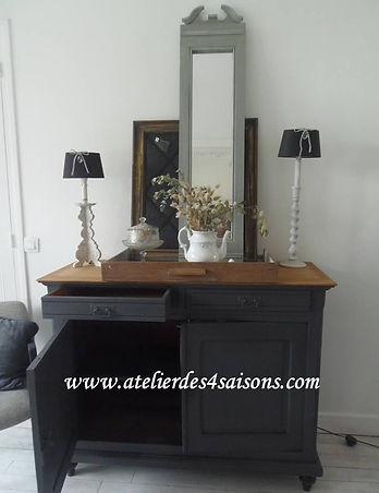 Buffet vintage gris ardoise Atelier des