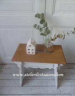 Chevet, tabouret vintage gris perle Atel