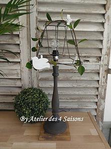 Lampe gris ardoise Atelier des 4 saisons