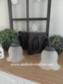 Appliques avec globe noir charbon Atelie