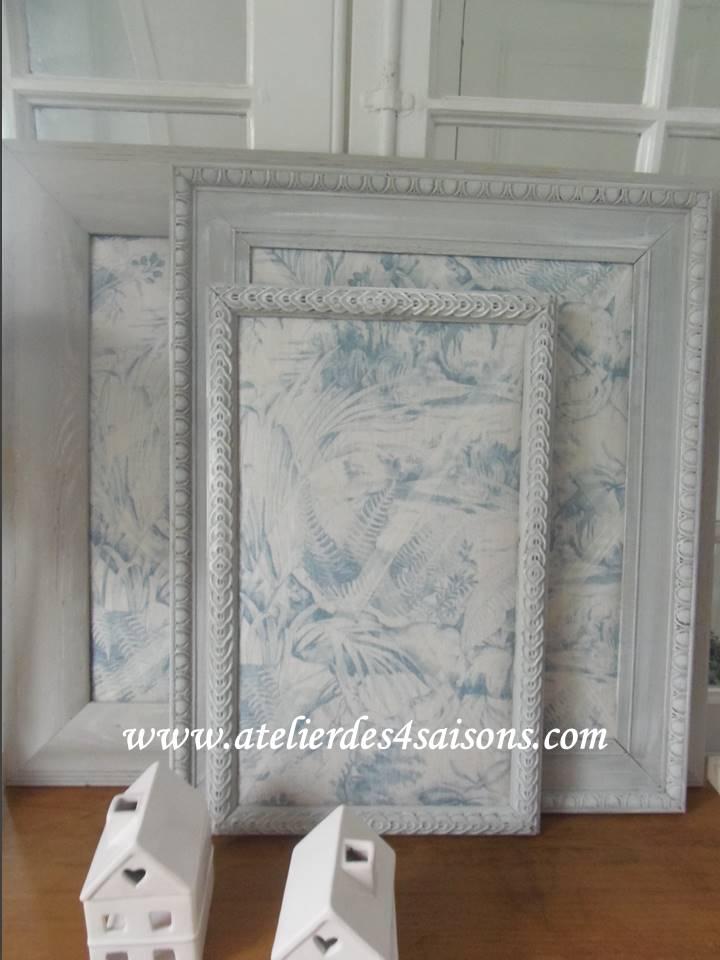 Pèle-mêle feuillage bleu Atelier des 4 s
