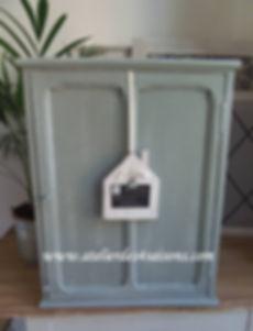 Armoirette vintage vert de gris  Atelier