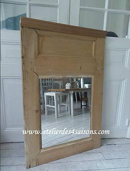 Miroir , trumeau en bois brut Atelier de
