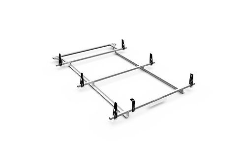 Adrian Steel 3 Bar Aluminum Utility Rack with Rear Roller Ford Transit Low Roof