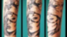 Frau Hund Tattoo