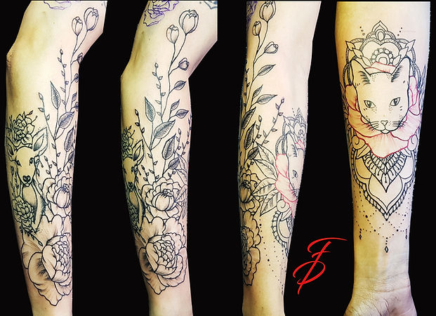 Blumen Sleeve Tattoo