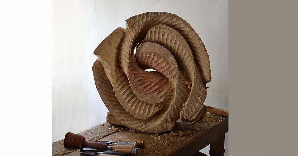 sculpture en pin - séparation