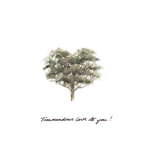 Treemendous love! square greetings card