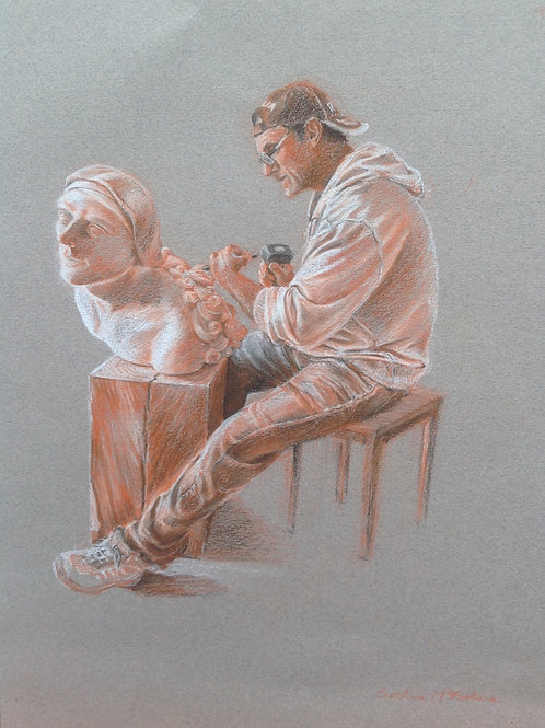 'The Sculptor'.  A4 Giclee Print