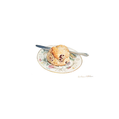 Cherry Scone, square greetings card