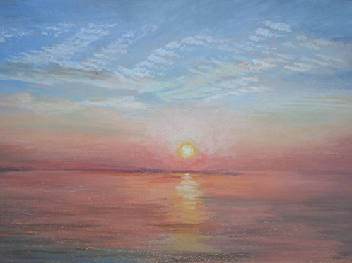 Sunset over Anglesey, A5 greetings card