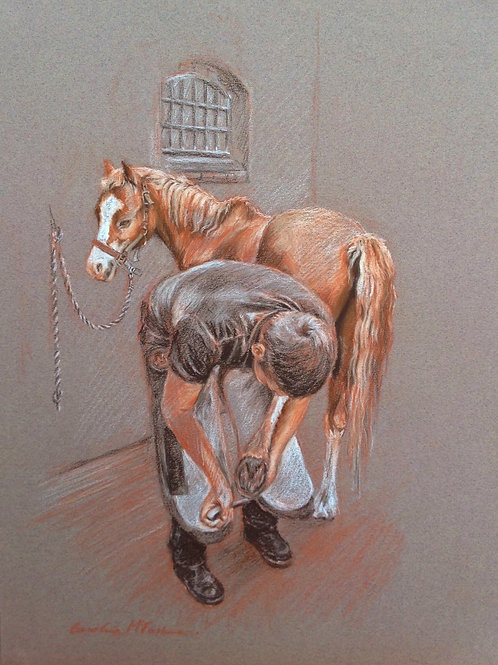 The Farrier's Apprentice, A5 greetings card