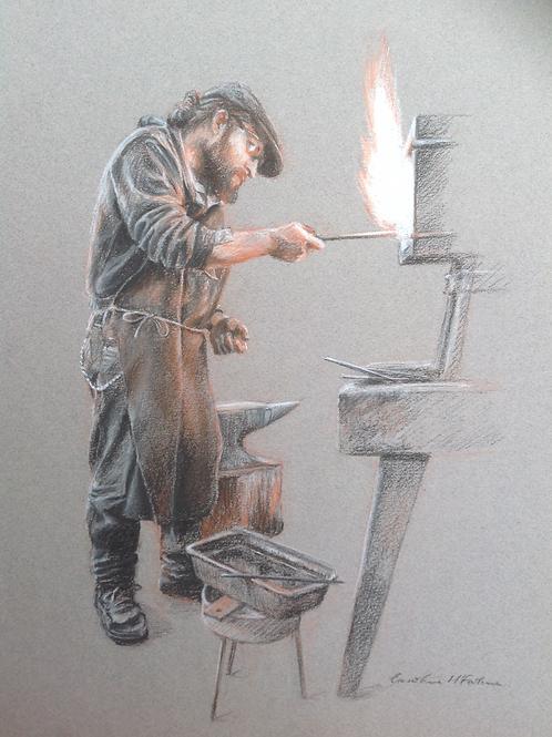 The Blacksmith, A5 greetings card