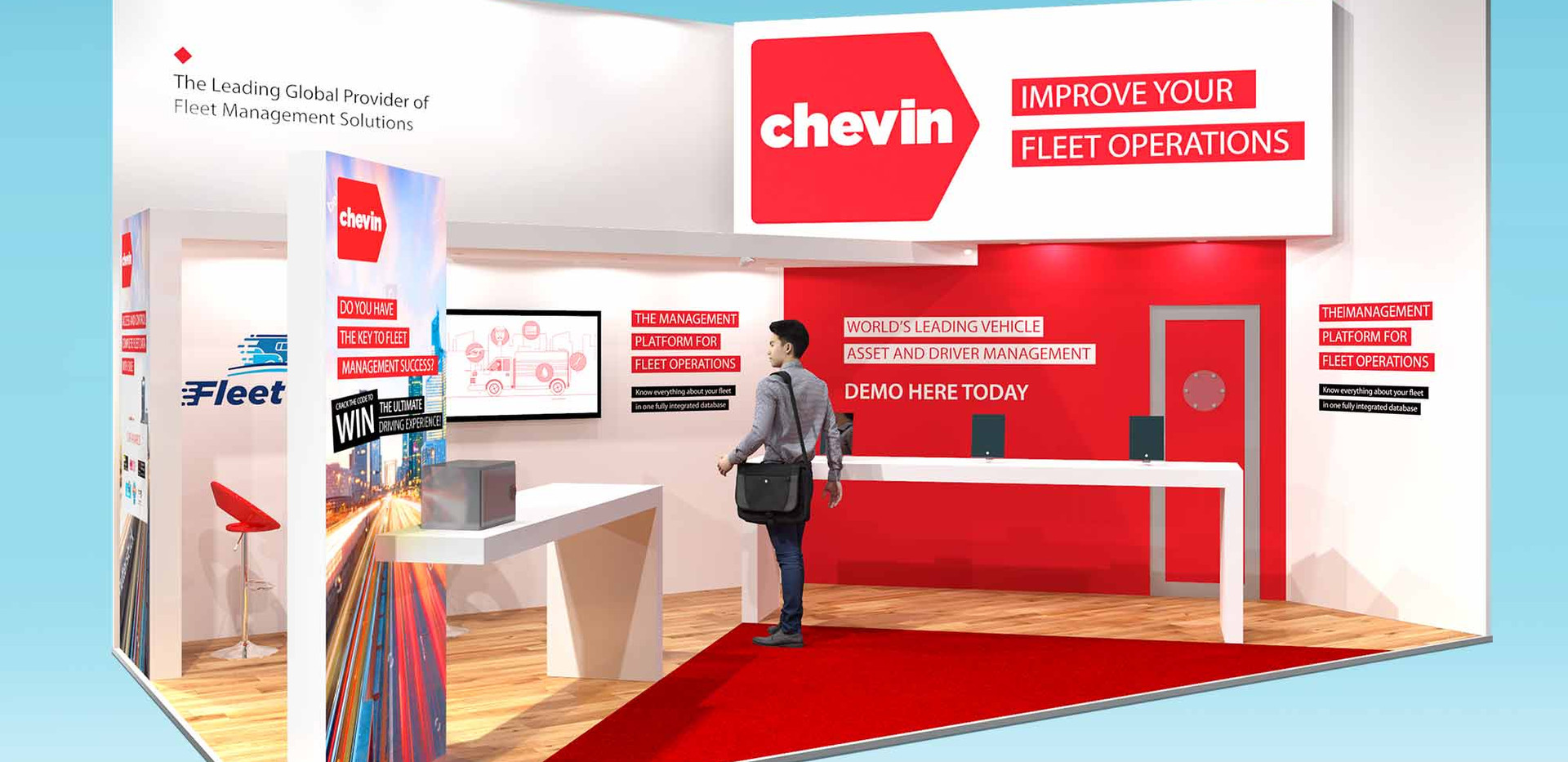 Architectural Exhibition Stand Design for Chevin CV Show