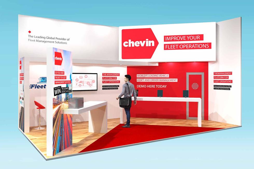 Architectural Exhibition Stand Design for Chevin CV Show