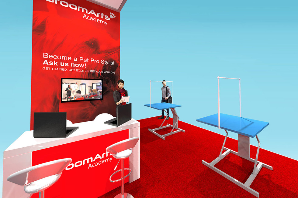 Trade Stand Design Concept GroomArts