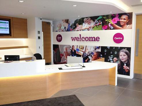 Custom Reception Desk Interior Design and Installation