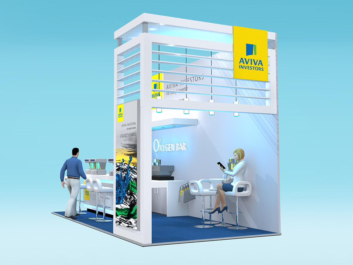 Contemporary Exhibition Stand Design Aviva Investors