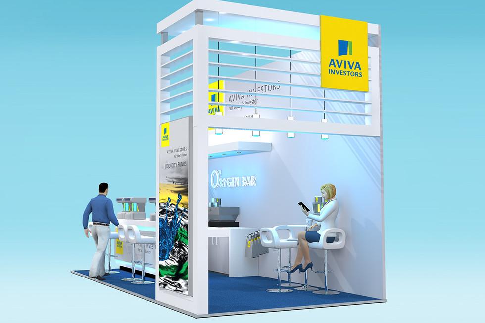 Contemporary Exhibition Stand Design Aviva Investors