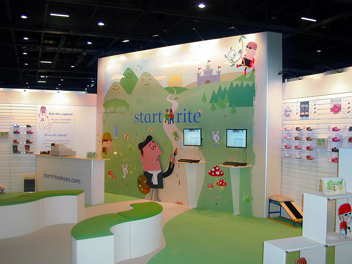 Startrite Shoes Custom Modular Exhibition Stand