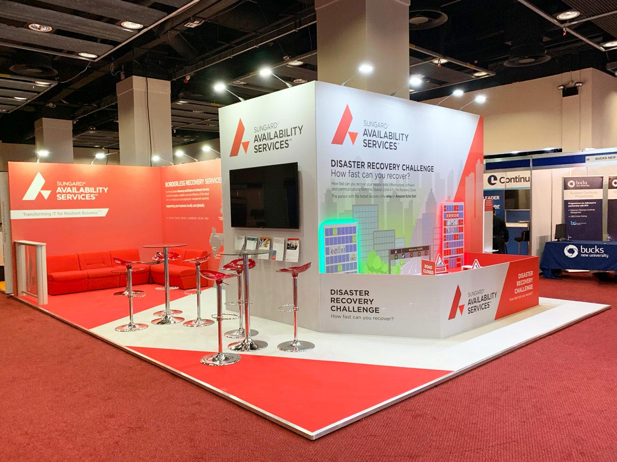 Custom Exhibition Stand Design and build Sungard BCI World 2018