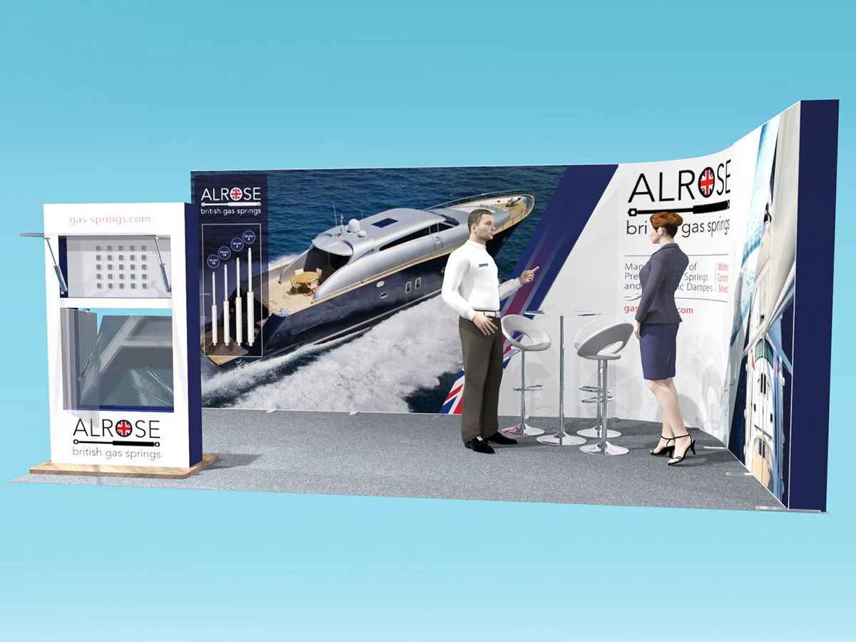 Exhibition Stand Design Marine Industry Gas Springs