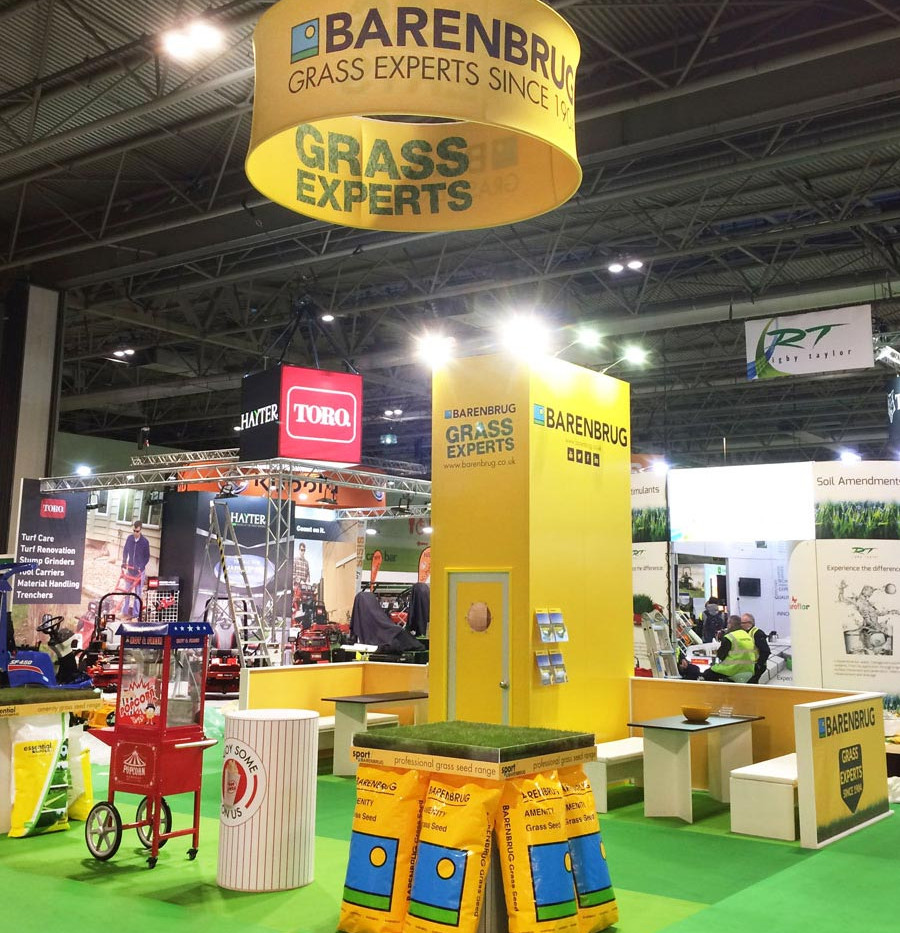 Exhibition Stand with Circular Banner Barenbrug Saltex 2018