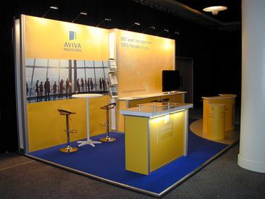 Modular Exhibition Stand - Aviva at NAPF Edinburgh
