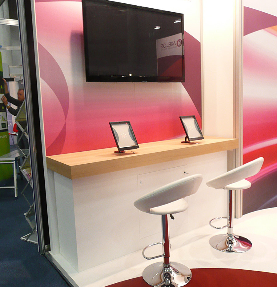 Exhibition Stand Digitial DIsplay Area - Axelos
