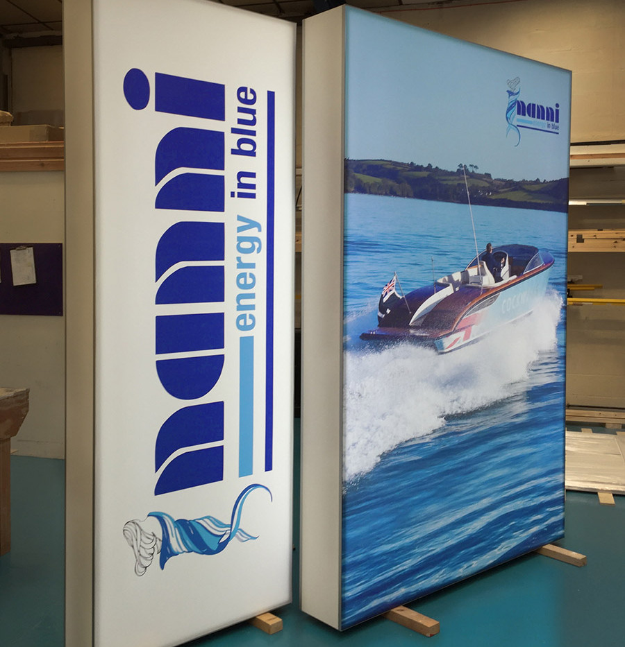 Light box graphics for A R Peachment Exhibition Stand