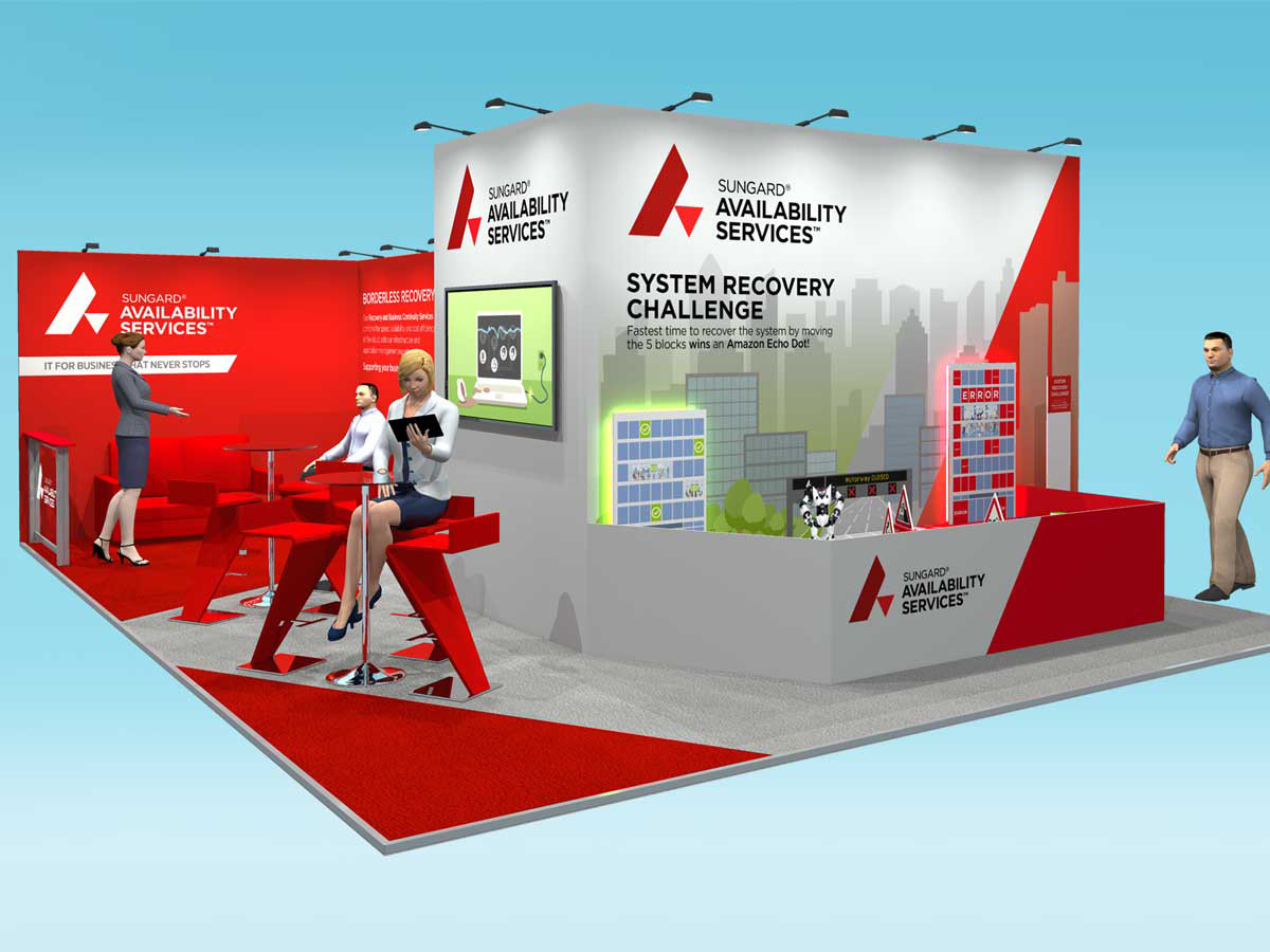Custom Exhibition Stand Design Concept Sungard BCI 2018