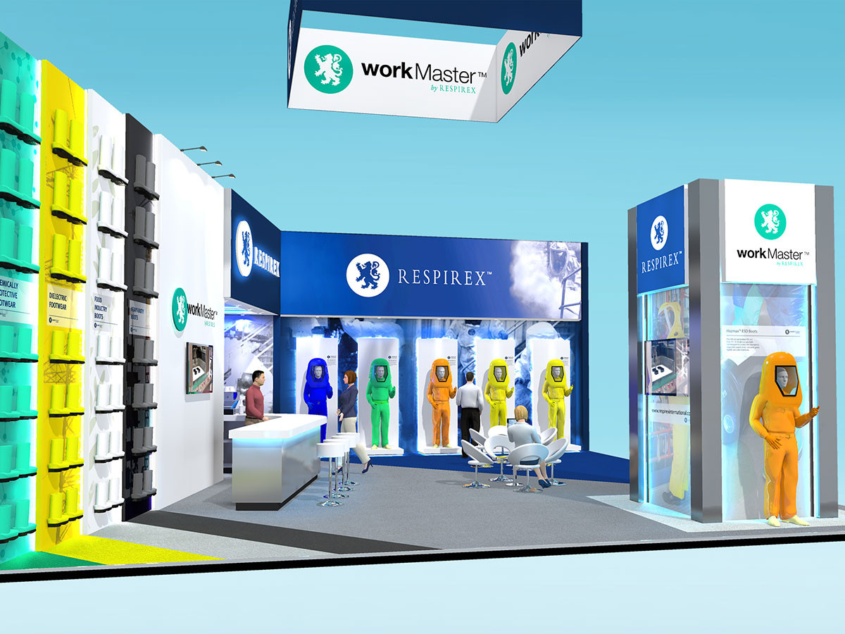Vibrant Exhibition Stand Design Concept Respirex