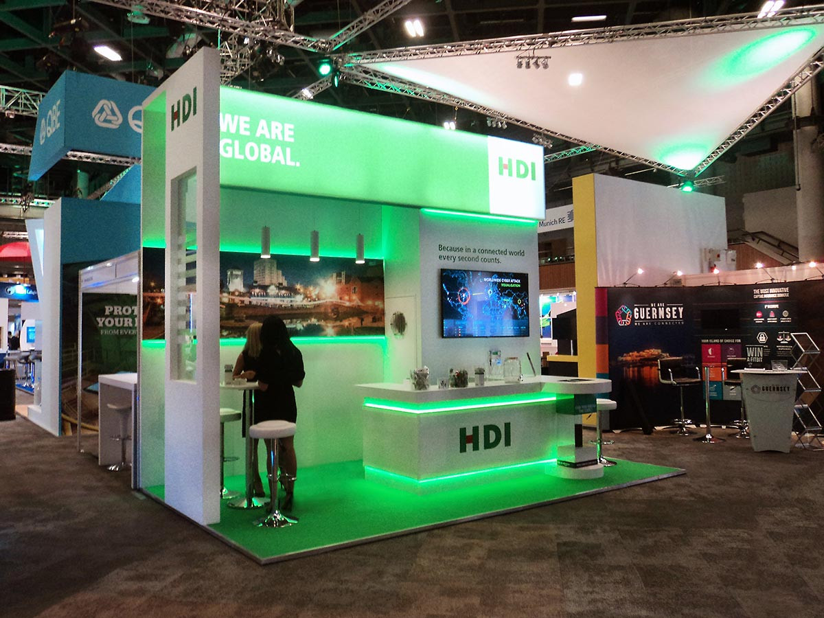 Exhibition stand design and build HDI airmic 2016