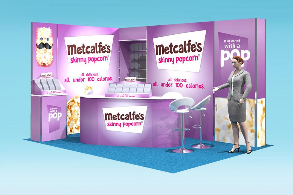 metcalfes popcorn modualr exhibition stand design