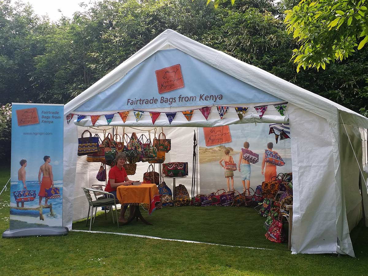 Outdoor portable display marquee - FairTrade Bags