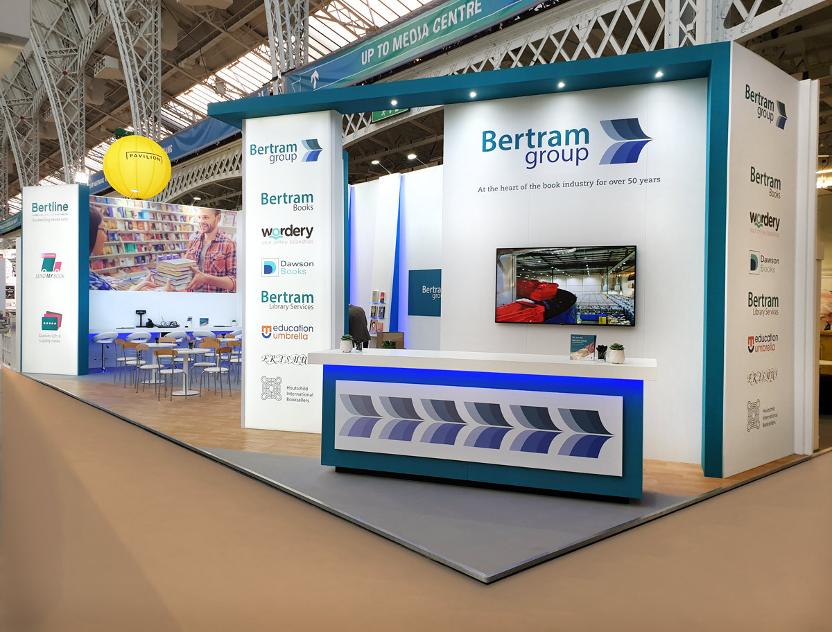 Large Custom Exhibition Stand Bertram Group London Book Fair 2019