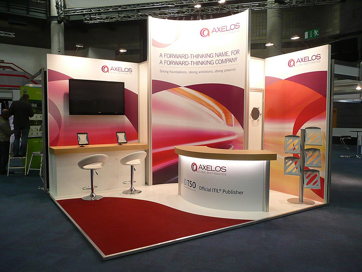 Custom Modular Exhibition Stand - Axelos